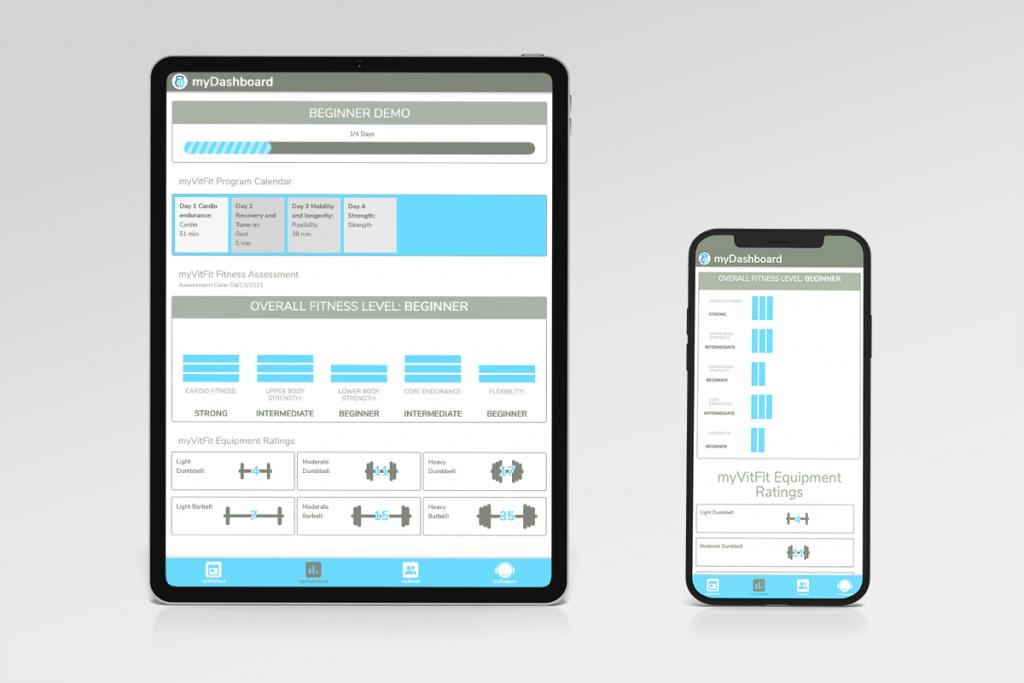 myVitFit fitness training platform works on any device.